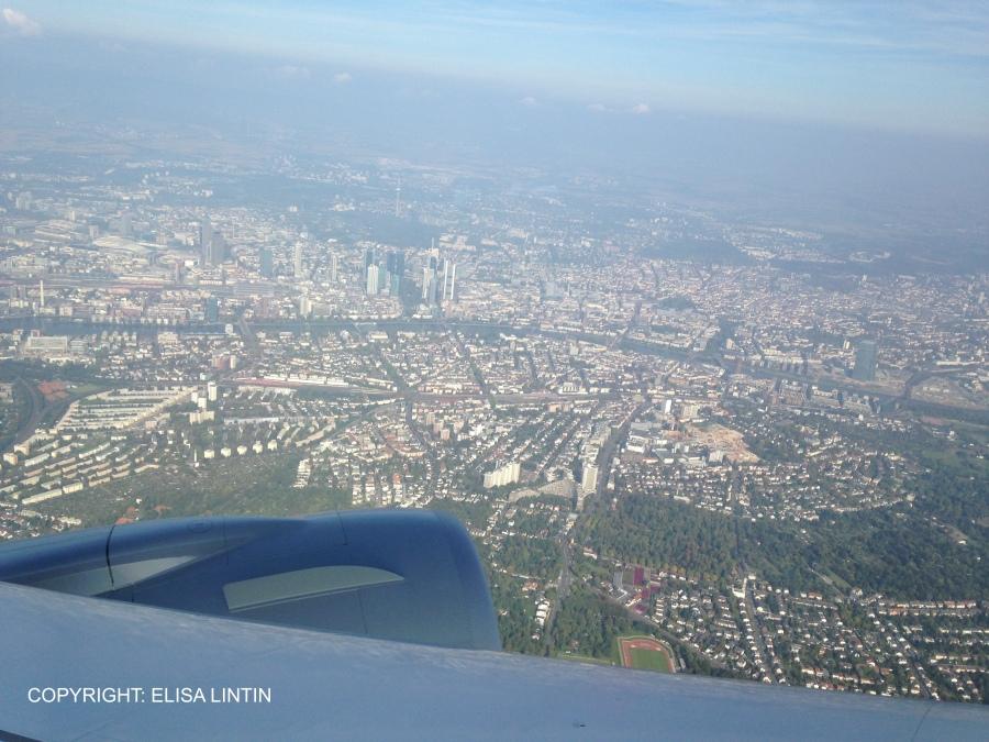 Sicht über das wunderschöne Frankfurt! COPYRIGHT ELISA LINTIN