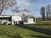Wie bei der Vivienne Westwood Show fand die Show im Glashaus in der Nähe vom Grand Palais statt.